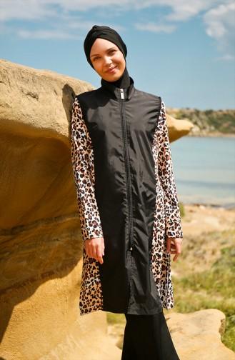 Black Swimsuit Hijab 19103-01