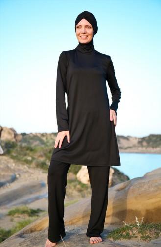 Black Swimsuit Hijab 1969-01