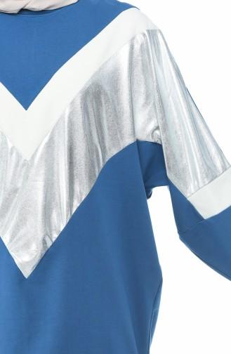قميص رياضي نيلي 19091-04