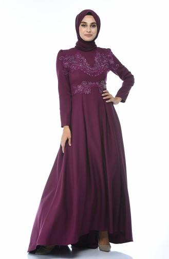 Zwetschge Hijab-Abendkleider 9516-01