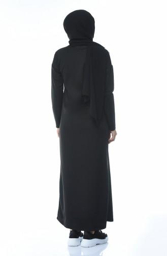 Black Hijab Dress 4055-01