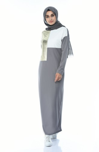 Robe Hijab Gris 4055-02