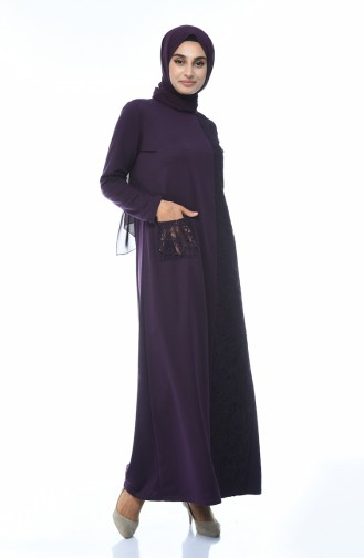 Lila Hijap Kleider 3100-02