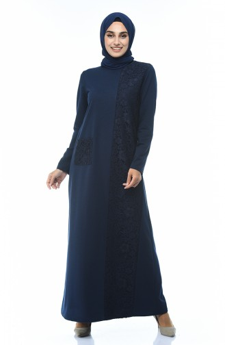 Navy Blue Dress 3100-04