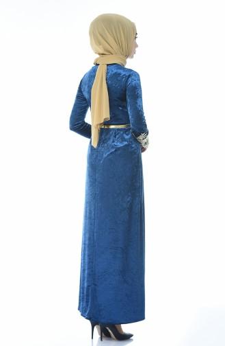 فستان نيلي 4484-06