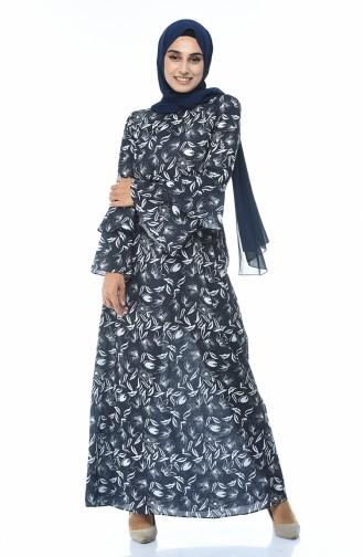 Robe Hijab Bleu Marine 60042-01