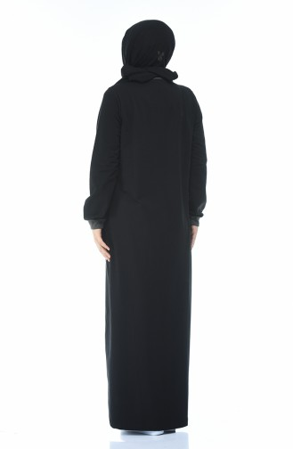 Black Abaya 10011-01