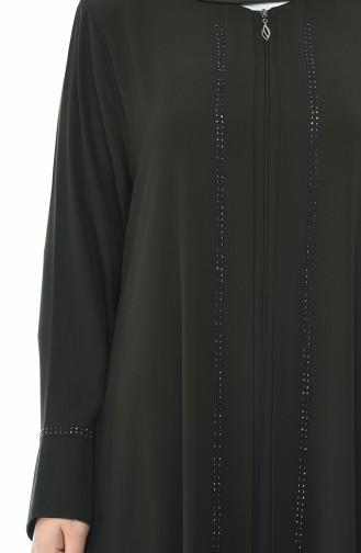 Khaki Abaya 8376-01