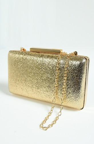 Gold Colour Portfolio Hand Bag 0250-01