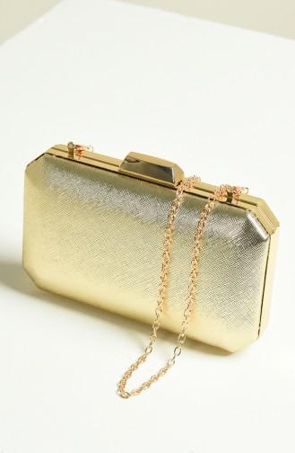 حقيبة يد لون ذهبي 0277-02