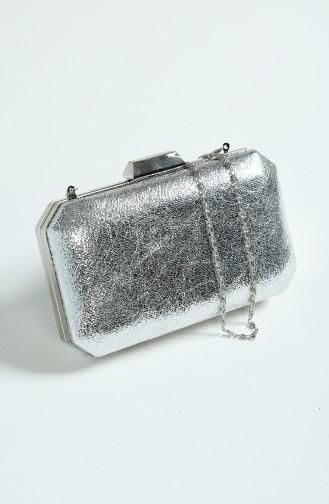 Silver Gray Portfolio Hand Bag 0277-03