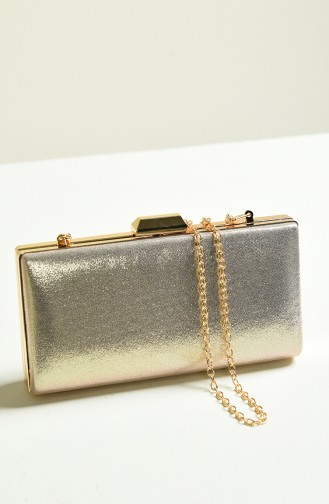 Gold Colour Portfolio Hand Bag 0279-01