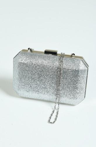Silver Gray Portfolio Hand Bag 0291-01