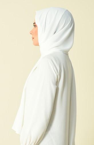 Karaca Düz Safir Şal 90593-19 Beyaz 90593-19
