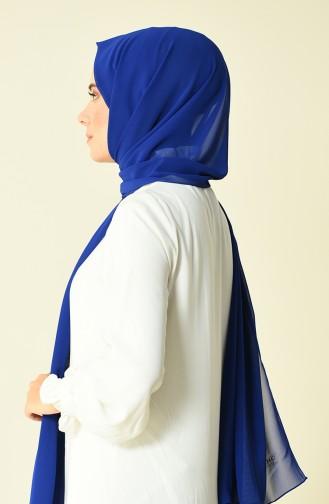 شال كاراجا كريب لون أزرق ملكي 90594-06