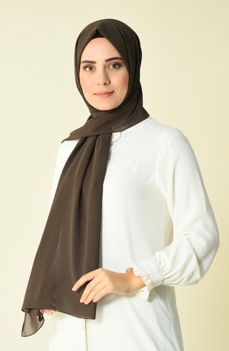 Brown color Karaca Crepe Shawl 90594-08