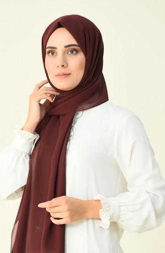 Karaca Düz Krep Şal 90594-16 Bordo 90594-16