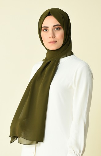 Karaca Düz Krep Şal 90594-17 Koyu Yeşil 90594-17