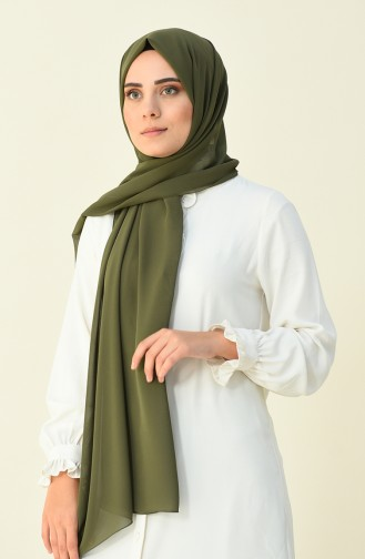 Karaca Düz Krep Şal 90594-18 Haki 90594-18