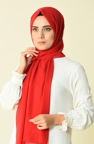Karaca Düz Krep Şal 90594-19 Kırmızı 90594-19