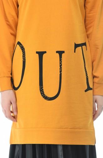 قميص رياضي أصفر خردل 19077-02