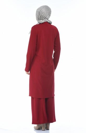 طقم أحمر كلاريت 0888-02