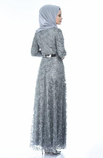 Gray İslamitische Avondjurk 3806-01