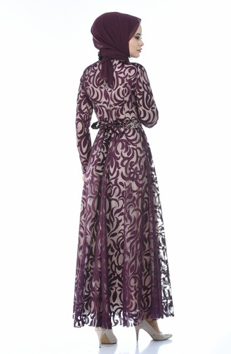 Spitzen Abendkleid 5038-01 Lila 5038-01