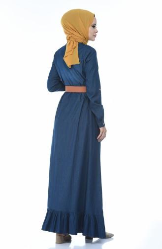 فستان أزرق كحلي 81740-01