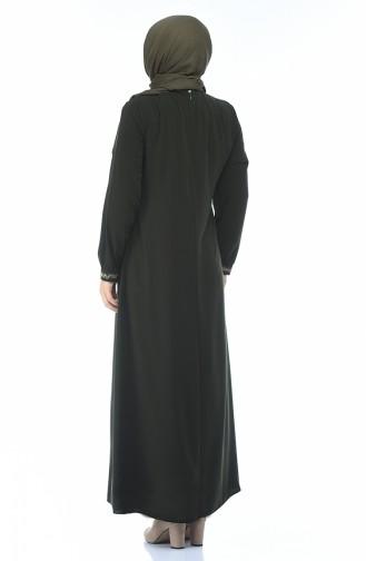 فستان كاكي 8377-03