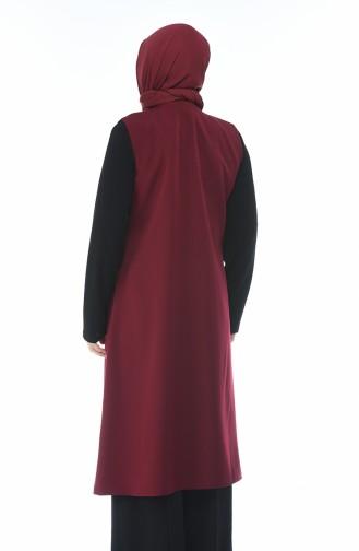 Claret red Vest 5220-06