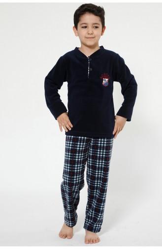 Navy Blue Kinderpyjama 4520-01