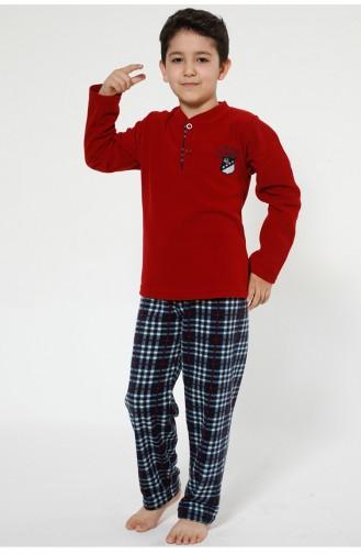 Claret red Kinderpyjama 4521-01