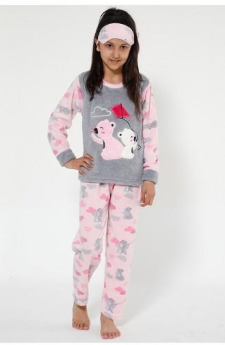 Pink Kids Pajamas 4522-01