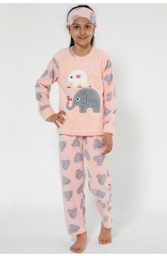 Pink Kids Pajamas 4526-01