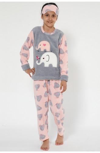 Ensemble Pyjama Pour Enfant 4527-01 Gris Rose 4527-01