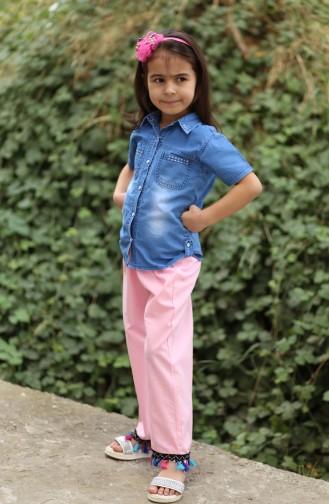 Rosa Kinder und Baby-Hosen 25082-01