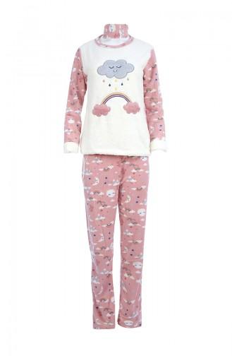 Ensemble Pyjama Pour Femme 8037 Ecru Poudre 8037
