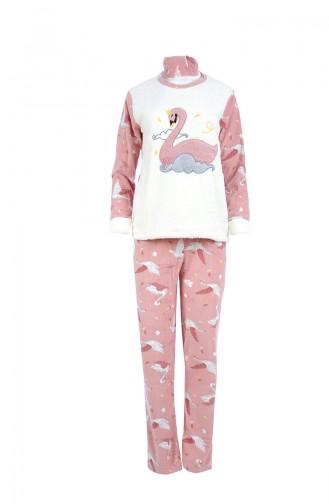 Ensemble Pyjama Pour Femme 8038 Ecru Poudre 8038