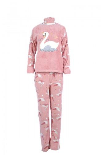 Damen Welsoft Pyjama Anzug 8039 Puder 8039