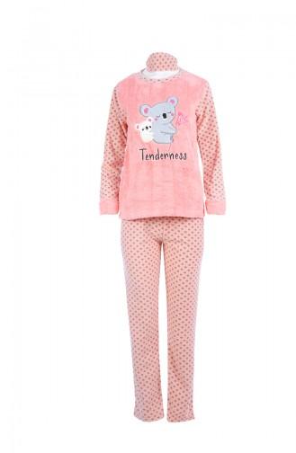 Ensemble Pyjama Pour Femme 8044 Saumon 8044