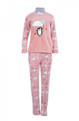 Damen Welsoft Pyjama Anzug 8053 Puder 8053