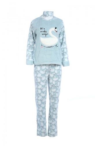 Ensemble Pyjama Pour Femme 8058 Vert eau 8058