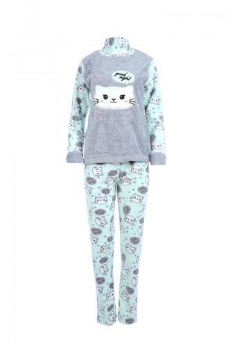Ensemble Pyjama Pour Femme 8060 Gris 8060