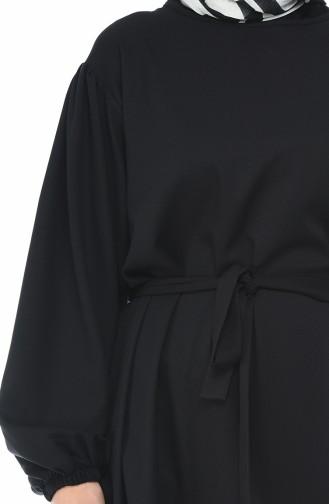 Longue Tunique Manches élastique 6328-01 Noir 6328-01