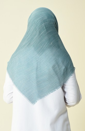 Cotton Scarf Green White 50056-64A