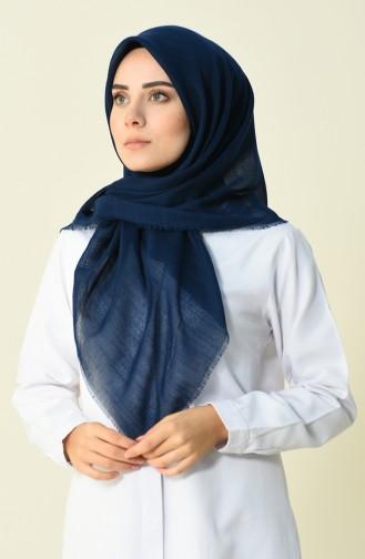 Echarpe Coton 50056-69B Bleu Marine Clair 50056-69B