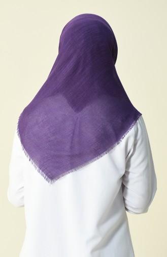 Sökme Pamuk Eşarp 50056-01 Mor Beyaz 01