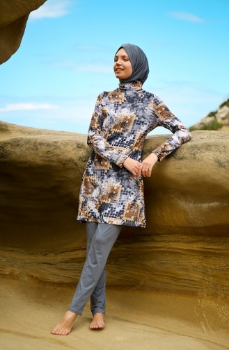 Light Black Swimsuit Hijab 1942-01