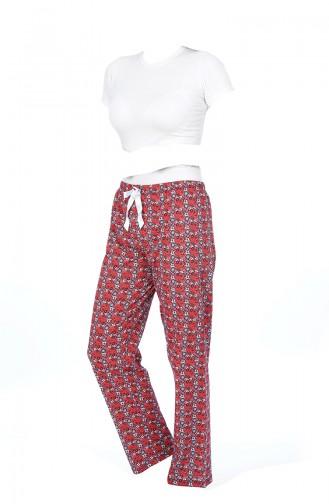 Bayan Pijama Alt 27128 Kırmızı